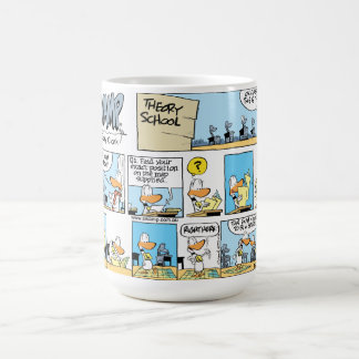 Ding Duck Aviation Navigation Cartoon Mug