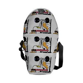 Ding Duck Bench Press Workout Cartoon Messenger Bag