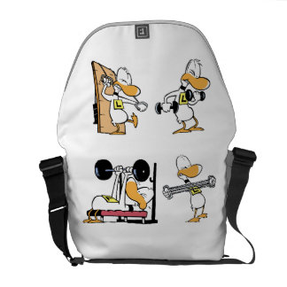 Ding Duck Gym Workout Messenger Bags