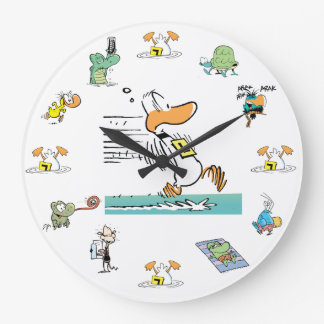 Ding Duck Swamp Character Clock