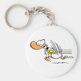 Ding Duck Taking Off Basic Round Button Keychain