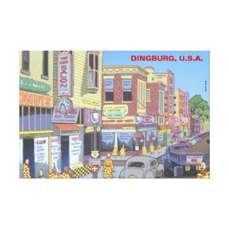 Dingburg, U.S.A. Canvas Print