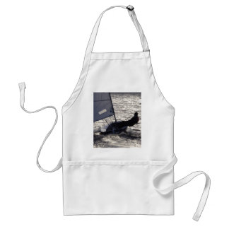 Dinghy Sailing Into The Sun Standard Apron