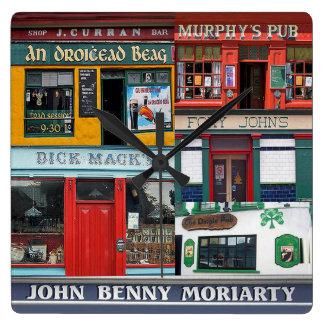 Dingle Pubs Collage, Irish Clock. Ireland Clocks