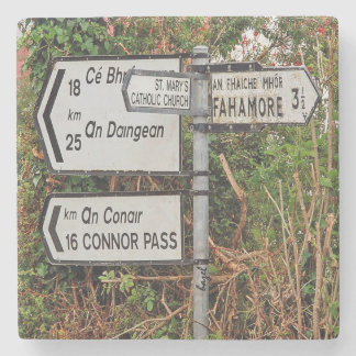 Dingle Road Sign Marble Coaster