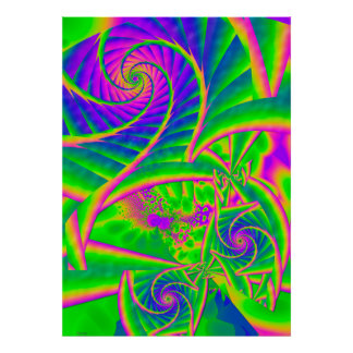 Dingleberries Psychedelic Fused Glass Poster
