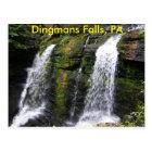 Dingmans Falls, PA Postcard