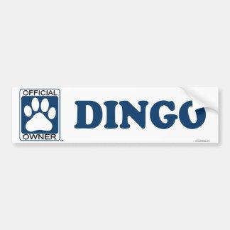Dingo Blue Bumper Sticker