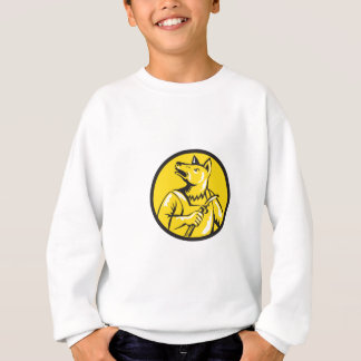 Dingo Dog Welder Circle Retro Sweatshirt
