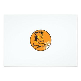 "Dingo Dog Welding Circle Retro 3.5"" X 5"" Invitation Card"