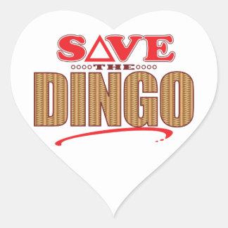 Dingo Save Heart Sticker