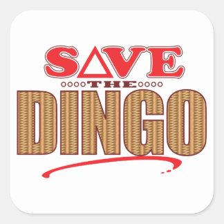 Dingo Save Square Sticker