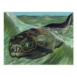 Dinicthys Prehistoric Animal Postcard