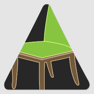 dining chair triangle sticker