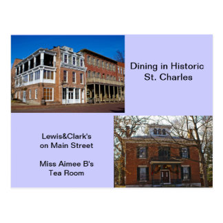 Dining in Historic St Charles Postcard