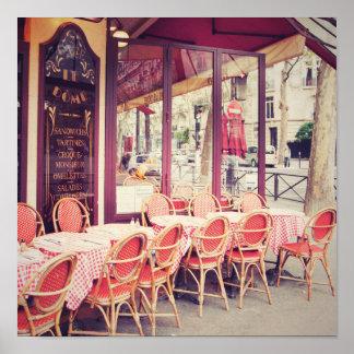 Dining In Paris Al Fresco Poster