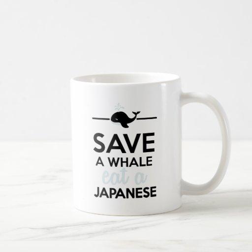 Dining - Save a whale eat a Japanese Coffee Mug