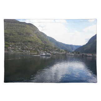 dining table PLACE MAT DESIGN- NORWAY FJORD