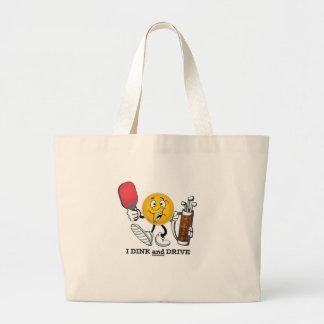 Dink & Drive (PIckleball/Golf:) Large Tote Bag