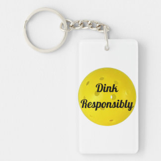 Dink Responsibly Keychain