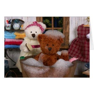 Dinky Bears: Bath Day Card