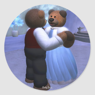 Dinky Bears Christmas Ball Classic Round Sticker