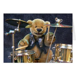Dinky Bears Drummer Card