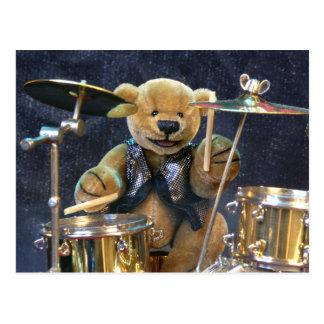 Dinky Bears Drummer Postcard
