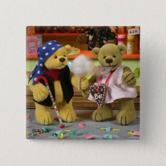 Dinky Bears Fairground Fun 2 Inch Square Button
