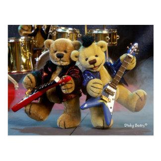 Dinky Bears: Guitar Duet Postcard