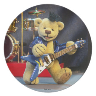 Dinky Bears Guitarist Plate