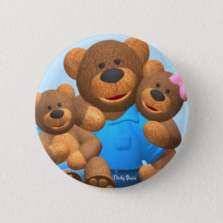 Dinky Bears: Happy Family 2 Inch Round Button