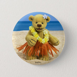 Dinky Bears Hula Dancer 2 Inch Round Button