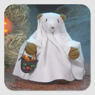 Dinky Bears Little Ghost Square Sticker