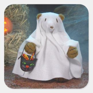 Dinky Bears Little Ghost Square Sticker