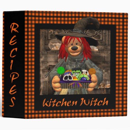 Dinky Bears Little Kitchen Witch Vinyl Binder