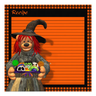 Dinky Bears Little Kitchen Witch Custom Invitation