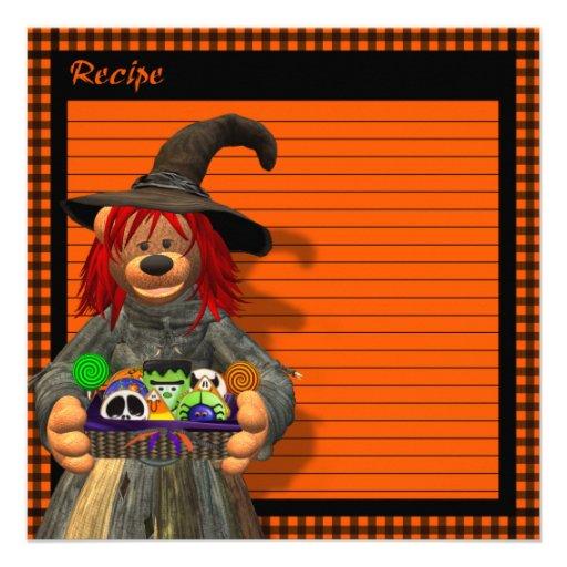 Dinky Bears Little Kitchen Witch Custom Invitation