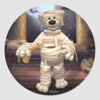 Dinky Bears Little Mummy Classic Round Sticker