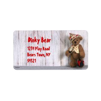 Dinky Bears Little Painter Label