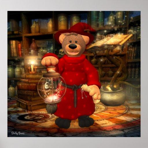 Dinky Bears Little Wizard Print