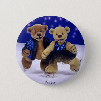 Dinky Bears on Ice 2 Inch Round Button