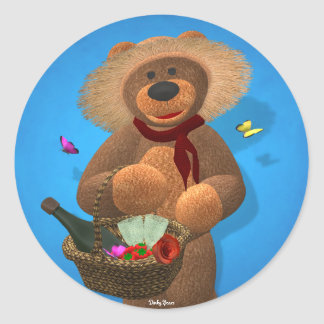 Dinky Bears: Picnic Time Round Sticker