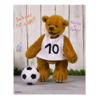 Dinky Bears Soccer Player Poster