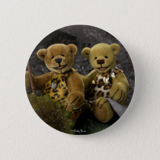 Dinky Bears Stone Age 2 Inch Round Button