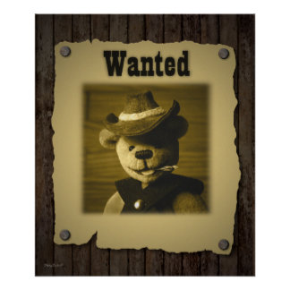 Dinky Bears: Wanted Poster