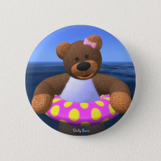 Dinky Bears Water Fun 2 Inch Round Button