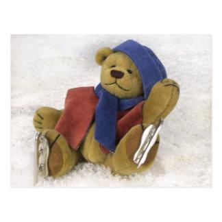 Dinky Bears Winter Fun Postcard
