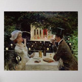 Dinner at Les Ambassadeurs, c.1882 Poster