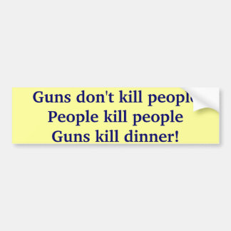 Dinner Bumper Sticker